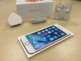 Boxed Rose Gold Apple iPhone 6s 16GB Factory Unlocked Mobile Phone + Warranty