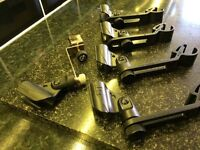 Shure Drum microphone clips x 4 and x 1 K&M HiHat Clip QUALITY