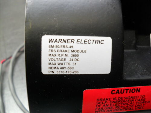 WARNER ELECTRIC EM-50/ERS-49 ERS Brake Module Guaranteed 60 Days