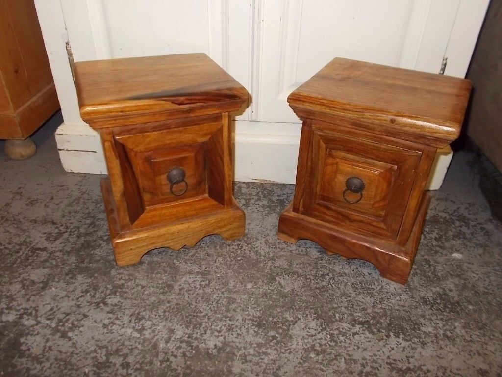 TWO FIRE SIDE MATCHING INDONESIAN WOOD CHESTS EXCELLENT CONDITION NICE ITEMS DELIVERY AVAILABLE DE