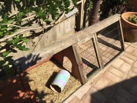 Guinea Pig Hutch and a separate Outdoor Run