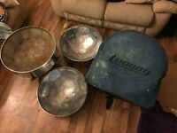 3 steelpan drums great condition