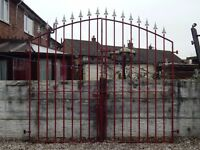 Wrought iron gates / Driveway gates / Garden gates / Metal gates / Galvanised gates / Tall side gate