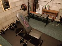 Weight Plates, Straight & Curl Bar Barbell + more