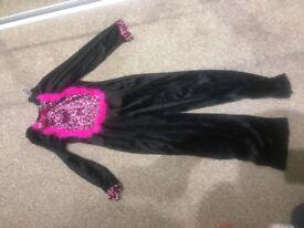 Girls cat Halloween costume size 7-8 years
