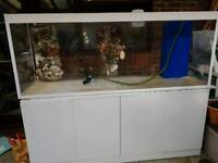 Acrylic fish tank 7x2x2.5 high with sump