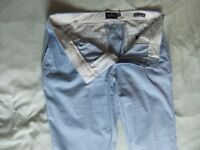 Mens M&S Blue Harbour Slim Fit Chinos. 36R.