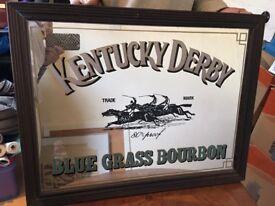 Framed collectible antique Kentucky Derby