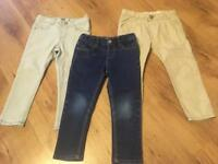 Girls Zara jeans and chinos age 3-4