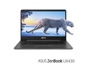 ASUS ZenBook UX430UA 14 Ultra-Slim FHD  Intel i7-8550U,turbo 4.0 GHz, 16GB, 512GB SSD ,backlit keyboard, Quartz Grey
