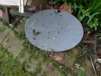 Job lots 2 Satellite Dish Antenna and a Technomate Universal Single LNB