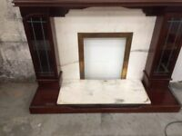 REDUCED!! fire surround with marble back. You custome helps feed the homeless in Manchester