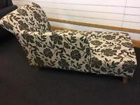 Brand New Floral Fabric Chaise Longue
