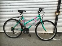 Green Mountainbike for woman