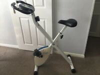 Davina McCall folding excercise bike