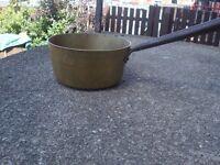 old brass pan
