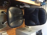 2 x Black Leather Office Chairs FREE!!