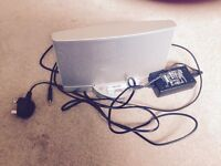 Bose stereo speaker for use with an Apple iPhone