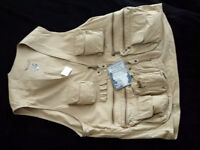 Fly fishing waistcoat.