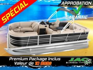 2016 Legend Boats Ponton Bayshore Cruise Mercury 25 EL Bateau pê