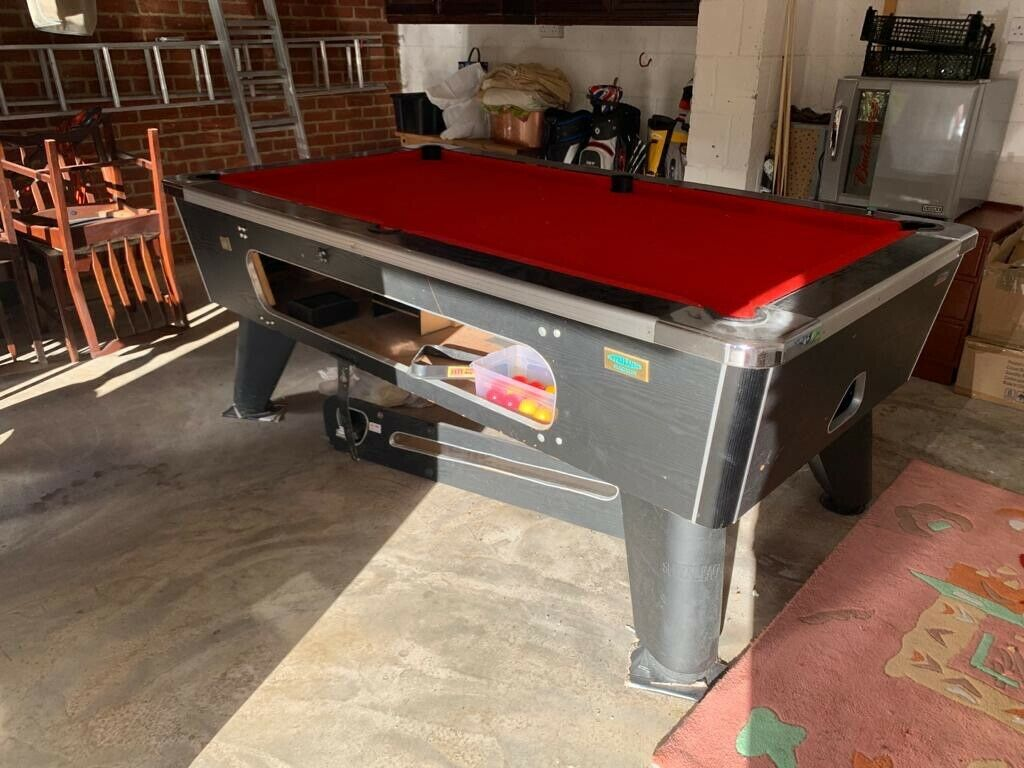Superleague Magnum Red Cloth Pool Table