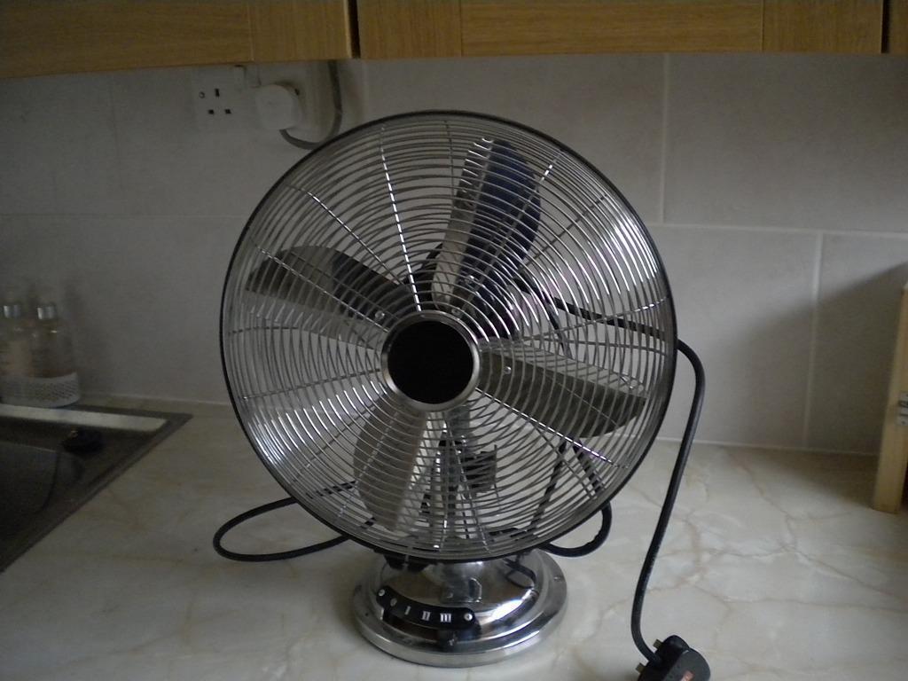 Gumtree Desk Fan : Powerful fan chrome in stevenage hertfordshire gumtree