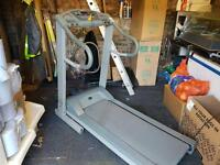 Electric trim line treadmill