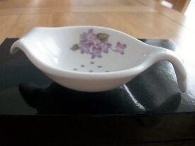 English Bone China Tea Strainer by Lyme Studio