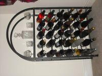 Large metal wine rack