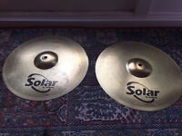 Sabian Solar cymbals and carry case