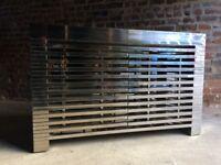 Timothy Oulton Zazenne Shiny Steel Sideboard