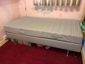 Used single Ikea sultan bed frame and mattress