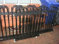 Railings, 8 Posts with Cannon Balls and Hinges. BARGAIN All Ready to Fit.
