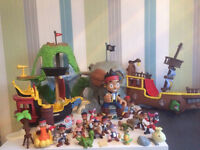 Jake and neverland pirates ,assorted lot of figures and ships ect