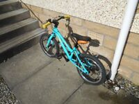 Childs bike Carrera Star Immaculate condition. Little used, daughter outgrown it.