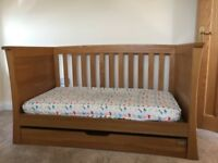 Mama's and Papas Ocean range golden Oak cot/bed