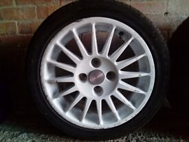 """16""""0z racing wheels with almost new all 4 tyres"""