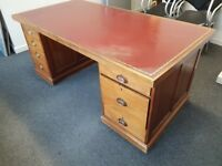 Repro Antique solid Mahogany Desk
