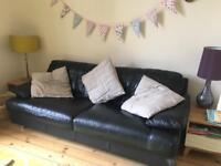 Designer leather sofas - two and three seaters - cheap price for quick sale