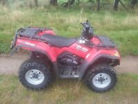 Can am outlander 400 4x4 farm quad road registered