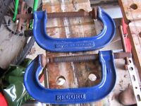 """pair of 4"""" record clamps"""