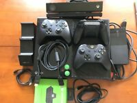 Xbox One (500gb) with Kinect + 3 controllers (1 is scuff/sharq) + 6 games + VenomChargingDock