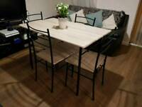 BARGAIN! Dinning table & 4 chairs