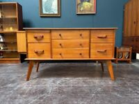 Compact Sideboard / Chest of Drawers by Alfred Cox. Retro Vintage Mid Century 1960s