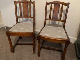 2 x Scottie Dog Chairs - grey tweed like fabric £25 each