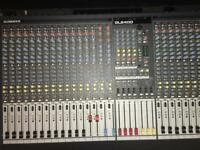 Allen & Heath GL2400 32 channel mixer with flight case