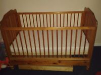 Wooden Cot with New Mattress & Underneath Floor Storage