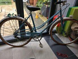 Vintage Ladies Monaco Town Bike Blue Step Through Frame