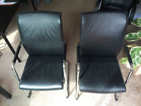 Two excellent leather armchairs. Very comfortable and stable.