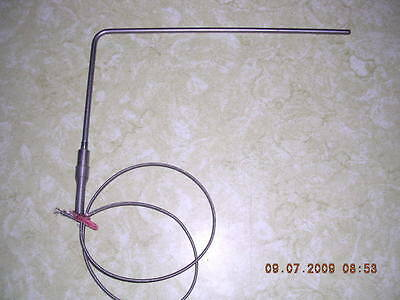 Heavy Duty Type J Thermocouple 316 X 9 Stainless Steel Probe 24 Ss Braided